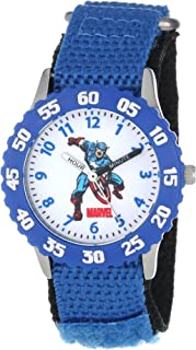 Marvel Boys' Captain America Blue Time Teacher Watch