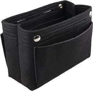 FHQSX Insert Handbag Organizer Travel Cosmetic Makeup Bag in Bag Lightweight Tote Shaper Divider Multi Pockets