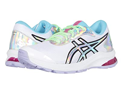 ASICS Kids GT-1000 9 (Little Kid/Big Kid) (White/Black) Girls Shoes