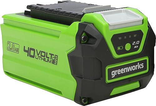 Greenworks Tools batterie G40B2 (batterie puissante rechargeable Li-Ion 40 V 2 Ah adaptée à tous les appareils de la ...