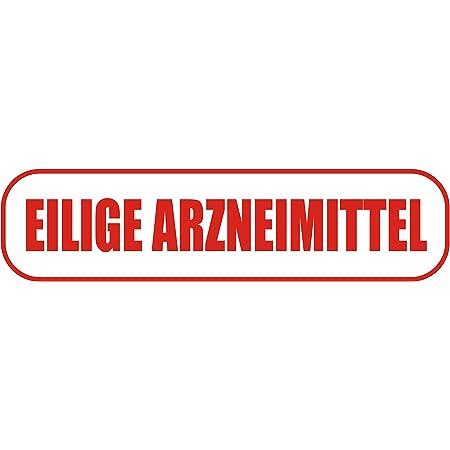 Indigos Ug Magnetschild Eilige Arzneimittel 45 X 12 Cm Magnetfolie Für Auto Lkw Truck Baustelle Firma Auto