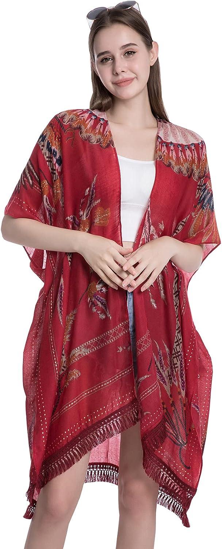 Wcxwzy Women's Kimono Loose Max 81% OFF Tassel Swimsuit Ups Cover High quality new Car Beach