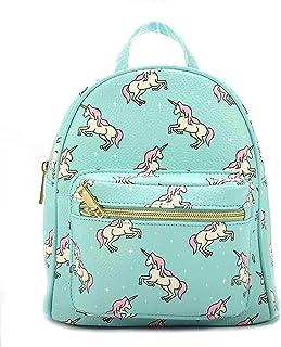 Kids Unicorn Backpack with Front Pocket - Polyurethane Leather, Adjustable Carry Strap - Teal