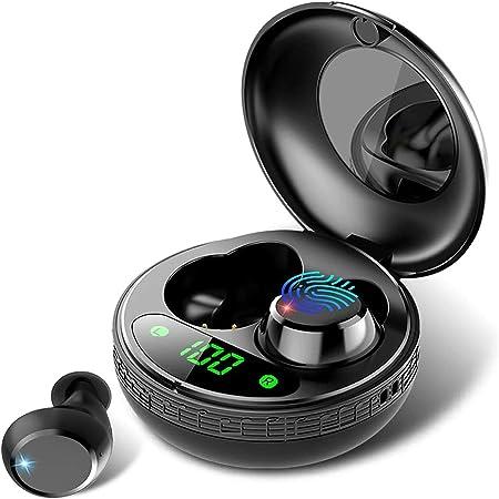 MuGo Wireless Earbuds, Bluetooth Headphones Wireless Earphones with Immersive Sound, Bluetooth 5.0 Headset with Mic, In Ear Headphones with Noise Cancelling, 30H Playtime Charging Case, IP7 Waterproof