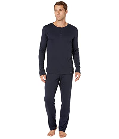 Hanro Thilo Long Sleeve Pajama (Midnight) Men