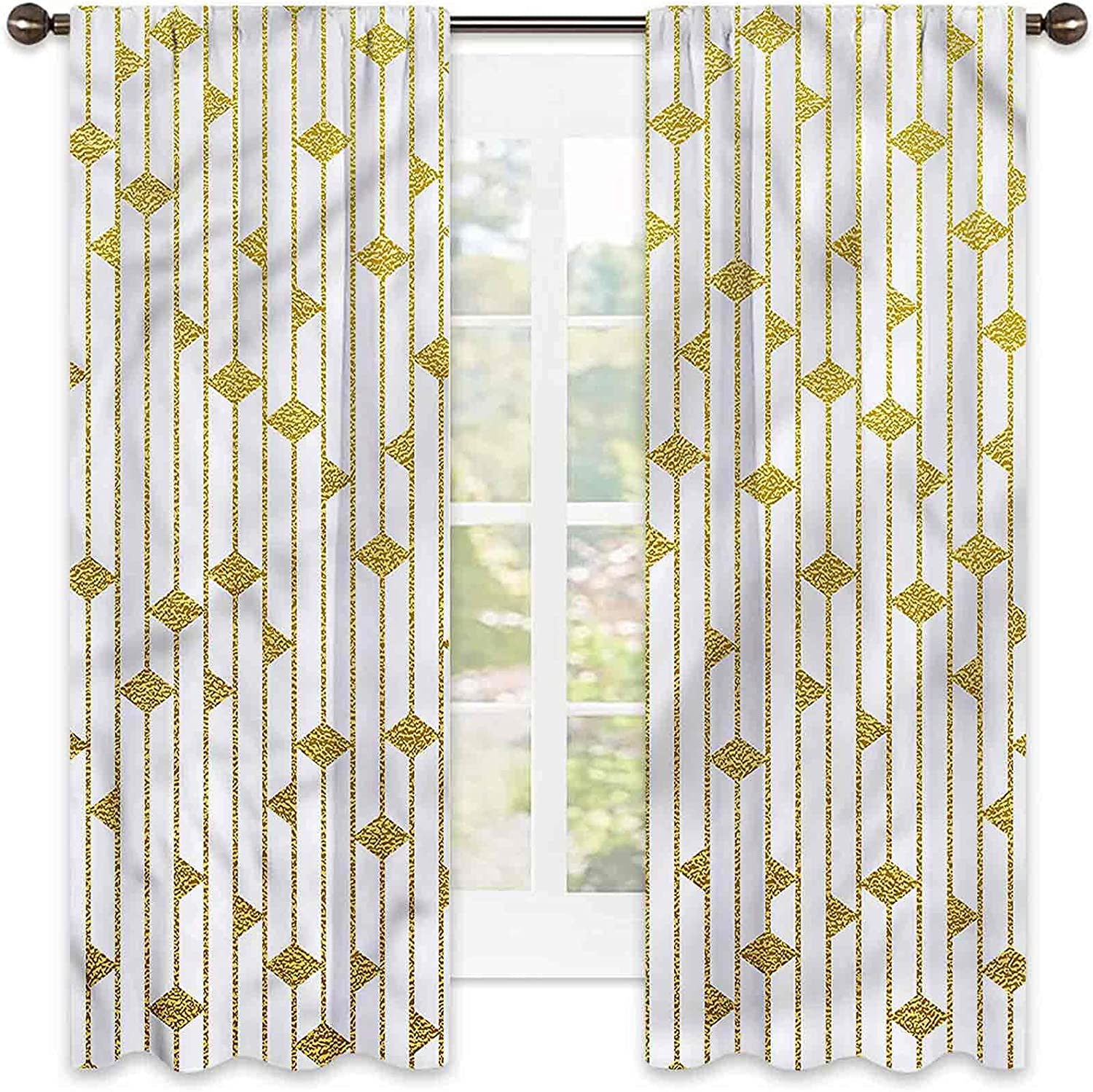 Courier shipping free Geometric Heat Insulation online shopping Curtain Vertical Stripes Wa Triangle