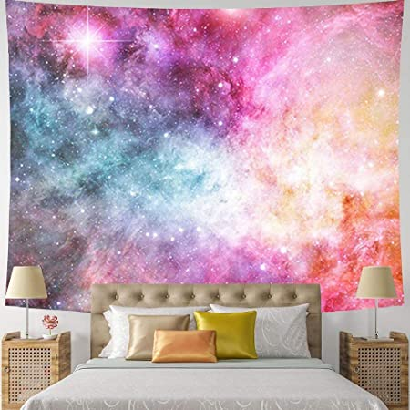 Galaxy Printed Tapestry Wall Hanging Tapestry 3D Wall Art Background Home Decor