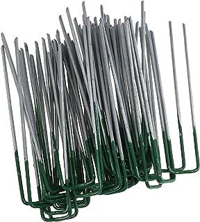 ENET 50X Pinzas en Forma de U de césped Artificial césped césped Pines Hierro galvanizado