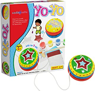 SadoCrafts Wooden YoYo Craft Kit - Fun, Interactive, Educational, DIY YoYo for Kids Ages 6+