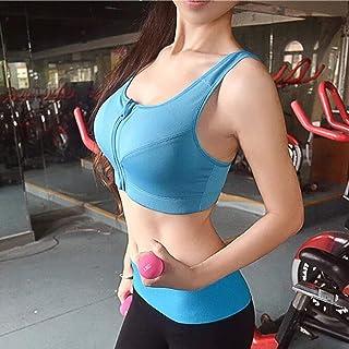 Women's Sports Bra Seamless High-Impact Support Sports Bra with Front Zipper Buckle Closure S-XXXXXL Sports Vest Sportswea...
