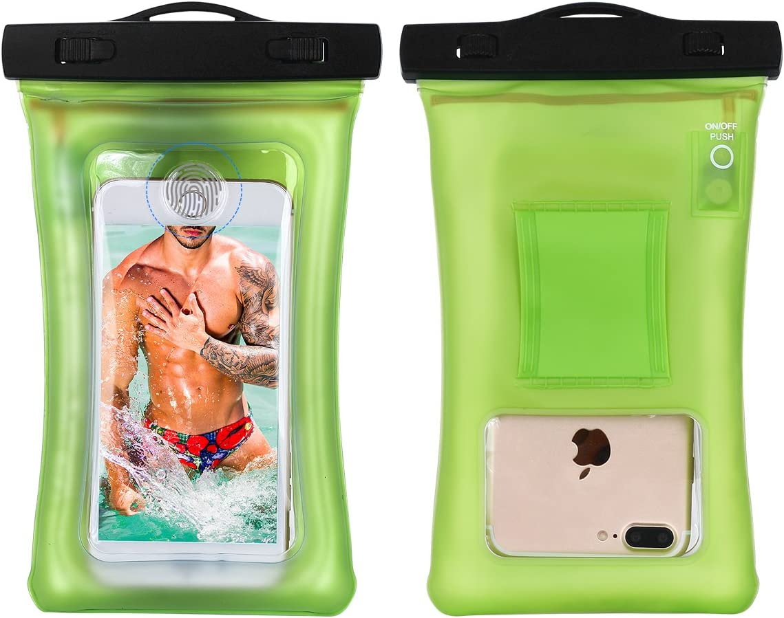 AICase Waterproof Phone Bag, Universal Cellphone Dry case Pouch with Float Function for Apple iPhone 7,7 Plus, Samsung Galaxy S7, S8 Plus, HTC LG Sony Nokia Motorola up to 6.3
