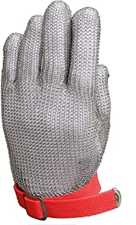 Anself Cut Resistant Glove Stainless Steel Mesh Knife Cut Resistant Protective Glove (Medium)