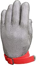 Anself Cut Resistant Glove Stainless Steel Mesh Knife Cut Resistant Protective Glove (Large)