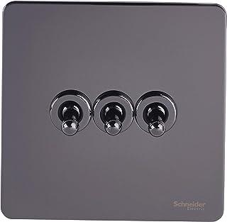 Schneider Electric GU1432TBN interruptor eléctrico Toggle switch Negro - Accesorio cuchillo eléctrico (Toggle switch, Negro, Acero, IP20, 16 A, 88 mm)