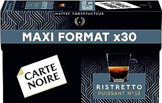 Carte Noire Café Expresso Ristretto N°12 Capsules Compatibles Nespresso, Paquet de 30 capsules