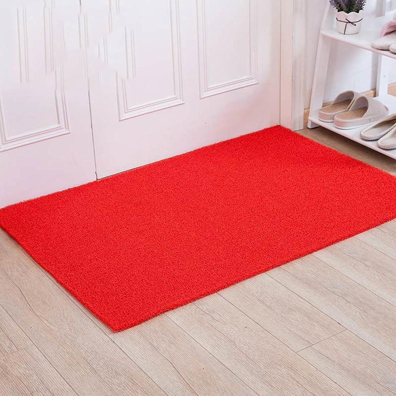 Solid color PVC Door Stepping pad Household mats Doormat Door Toilet Non-Slip mat Foot Cushion in Entrance Door-C 60x90cm(24x35inch)