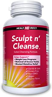 Sculpt n' Cleanse 50ct: Colon Cleanse, Detox, Weight Loss & Increased Energy Supplement   Vegan   Non GMO