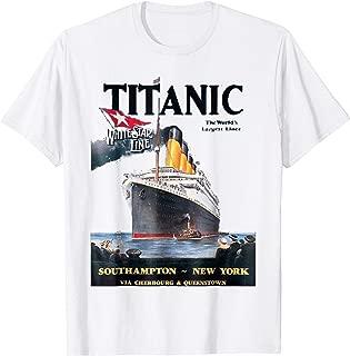 Titanic T-Shirt Vintage Ship Atlantic Ocean Voyage Poster