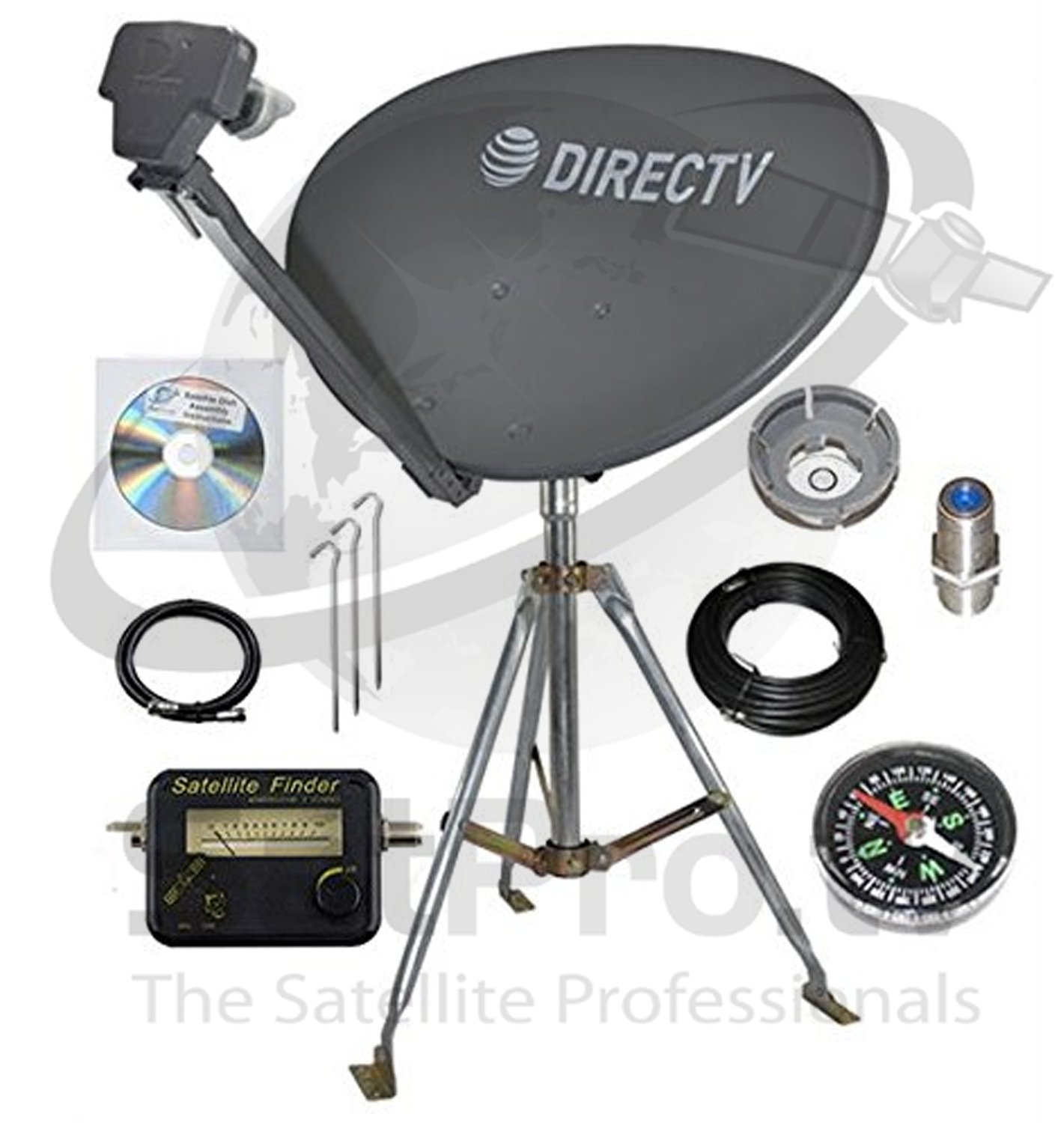 H25 HR34 DIRECTV SWM3 Complete Portable Camping RV Tailgate KIT Slimline Dish SL3 with 3FT Tripod /& COAXIAL RG6 /& HDMI Cable for GENIES /& H24 HR44 H44