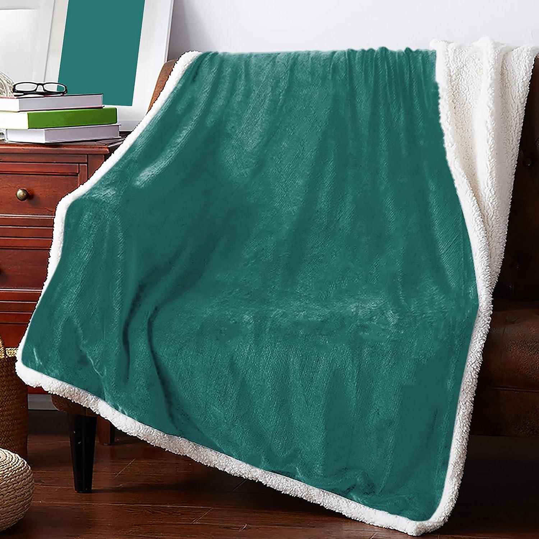 IDOWMAT Sherpa Fleece Blanket 60x80 Fluffy in OFFer Rev Soft Plush Max 75% OFF
