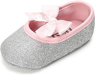 vanberfia Baby Girls Shoes Prewalker Newborn Infant Soft Sole Shoes for 0-18 Months