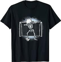 Dabbing Skeleton Soccer Halloween Dab Hip Hop And Moon T-Shirt