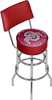 NCAA Ohio State University Padded Swivel Bar Stool with Back