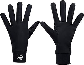 HIGHLOONG Compression Lightweight Sport Running Gloves Liner Gloves- Black - Men & Women