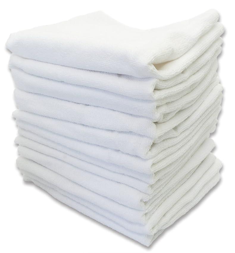 違反する料理をするインタフェースフェイスタオル 白いタオル 業務用 特選 12枚入り 綿100% 160匁 約50g 80×33.5cm