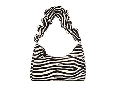 Loeffler Randall Aurora Scrunchie Strap Shoulder Bag (Zebra) Handbags