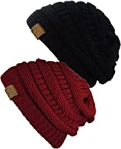 JOYEBUY 4 Pack Women Men Stylish Thin Hip-hop Soft Stretch Knit Slouchy Beanie