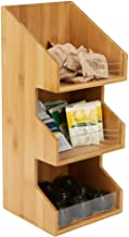 Mind Reader Coffee Condiment and Accessories Caddy Organizer, Bamboo Brown