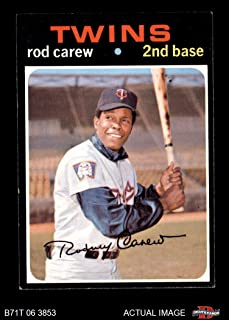 1971 rod carew baseball card