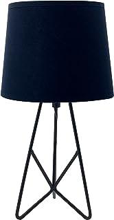 LUSSIOL Lampe à poser Sabine, lampe décorative métal, 40 W, noir, ø 18 x H 33 cm