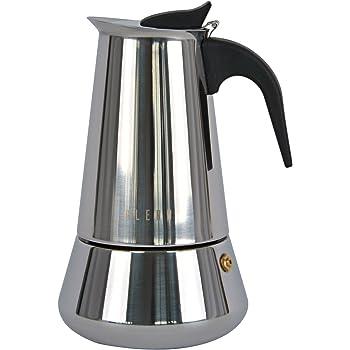 Ideal casa Cafetera 6 Tazas Acero Inoxidable con Fondo inducción ...