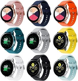 RIOROO Compatible for Samsung Galaxy Watch Active Bands/Active2 Bands 40mm/42mm/44mm,Women Men Soft Slim Silicone Wristband Compatible for Samsung Galaxy Watch Gear S2 Classic/Gear Sport Smart Watch