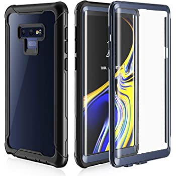 Samsung Galaxy Note 9 Cell Phone Case - Full Body Case with Built-in Touch Sensitive Anti-Scratch Screen Protector, Ultra Thin Clear Shock Drop Proof Impact Resist Extreme Durable Protective Cover