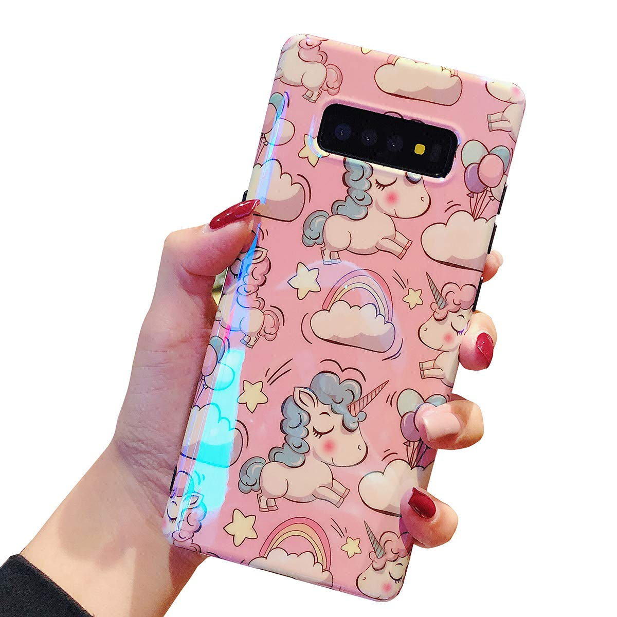 Fusicase For Galaxy S10 Cartoon Case Cute Unicorn Rainbow Pattern Case For Samsung Galaxy S10 Case Tpu Protective Cover Unicorn Case For Galaxy S10 Pink Buy Online In Gibraltar At Gibraltar Desertcart Com Productid