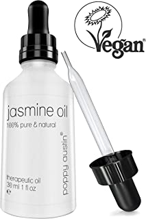 Pure Jasmine Oil - Vegan Certified, Cruelty-Free, Organic, Natural, Cold Pressed & Eco Friendly - Hand Made, Undiluted & Therapeutic Grade Essential Oil, 1 oz