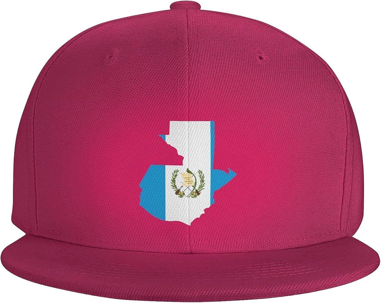 Guatemala Flag Country of America Flat Brim Baseball Hat Cowboy Hat Sun Hat Unisex