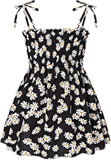 Toddler Baby Girl Dresses Casual Sleeveless Straps Dress Cute Floral Princess Sundress Little Kids Summer Clothes Outfits