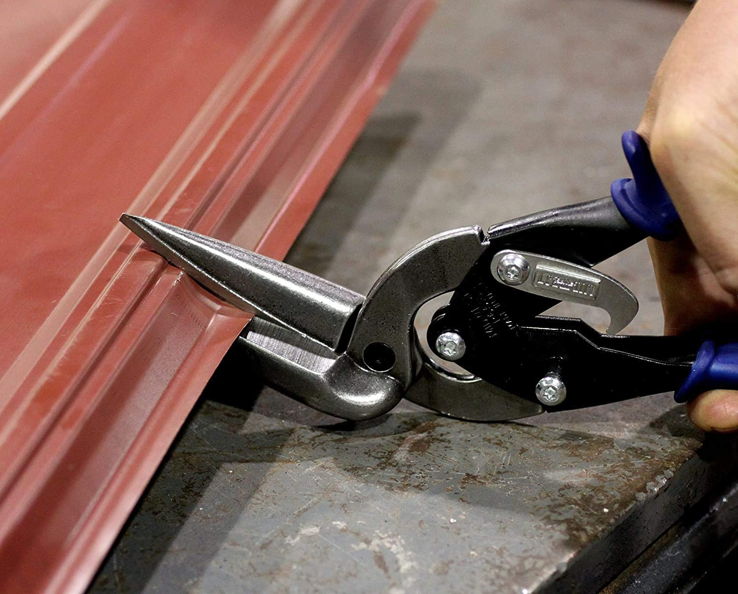Straight Cut Offset Tin Cutting Shears with Forged Blade