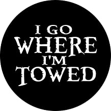 TIRE COVER CENTRAL I go Where Im Towed Spare (Camper 3) 255/75R17 fits Camper-Jeep-RV-Trailer(Drop Down Size menu