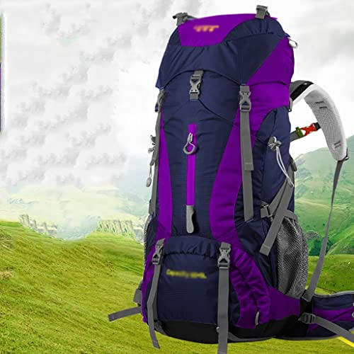 Sac à dos randonnée Sac à dos Sac à dos sac à dos Hommes et femmes Travel Voyage Sac à dos multi - fonctionnel étanche grande capacité 65L Sacs à dos de randonnée ( Couleur   E )