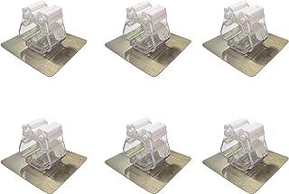 BODFPPC ほうきモップホルダー 壁取り付け ほうきグリッパー 接着剤不要 ほうきオーガナイザー 再利用可能 超滑り止め 強力 耐荷重 キッチン 浴室 庭用 6個パック (ホワイト)