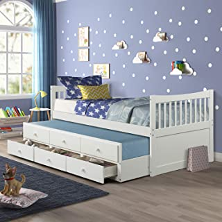 Best twin bed with roll out trundle Reviews