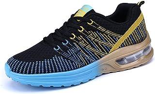 Homme Chaussures de Running Sport Basket Respirante Travail Trail Sneakers Noir Bleu 43