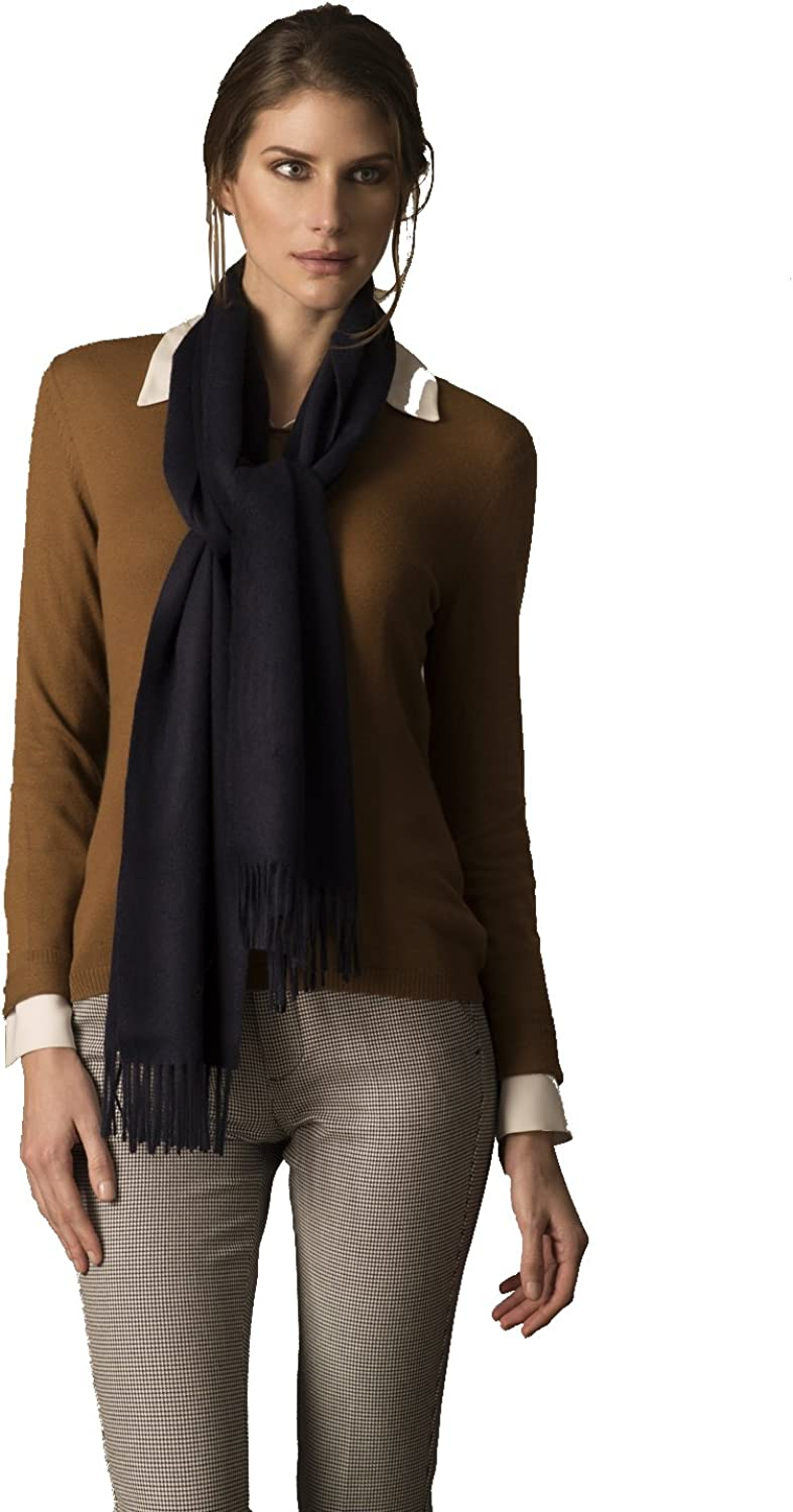 KUNA Jamas Solid Color Woven Scarf with fringes | 100% Royal Alpaca from Peru | Ethically Sourced | Limited Production
