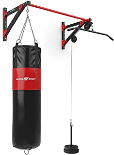 Marbo Sport Multifunctionele optrekstang met wandbevestiging, lattrek- en bokszakhouder (3-in-1) MH-D204 | Made in EU