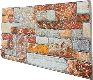 Panel de imitación de piedra reconstruido en poliestireno. Medidas: 100 cm x 50 cm. Grosor: 2 cm.